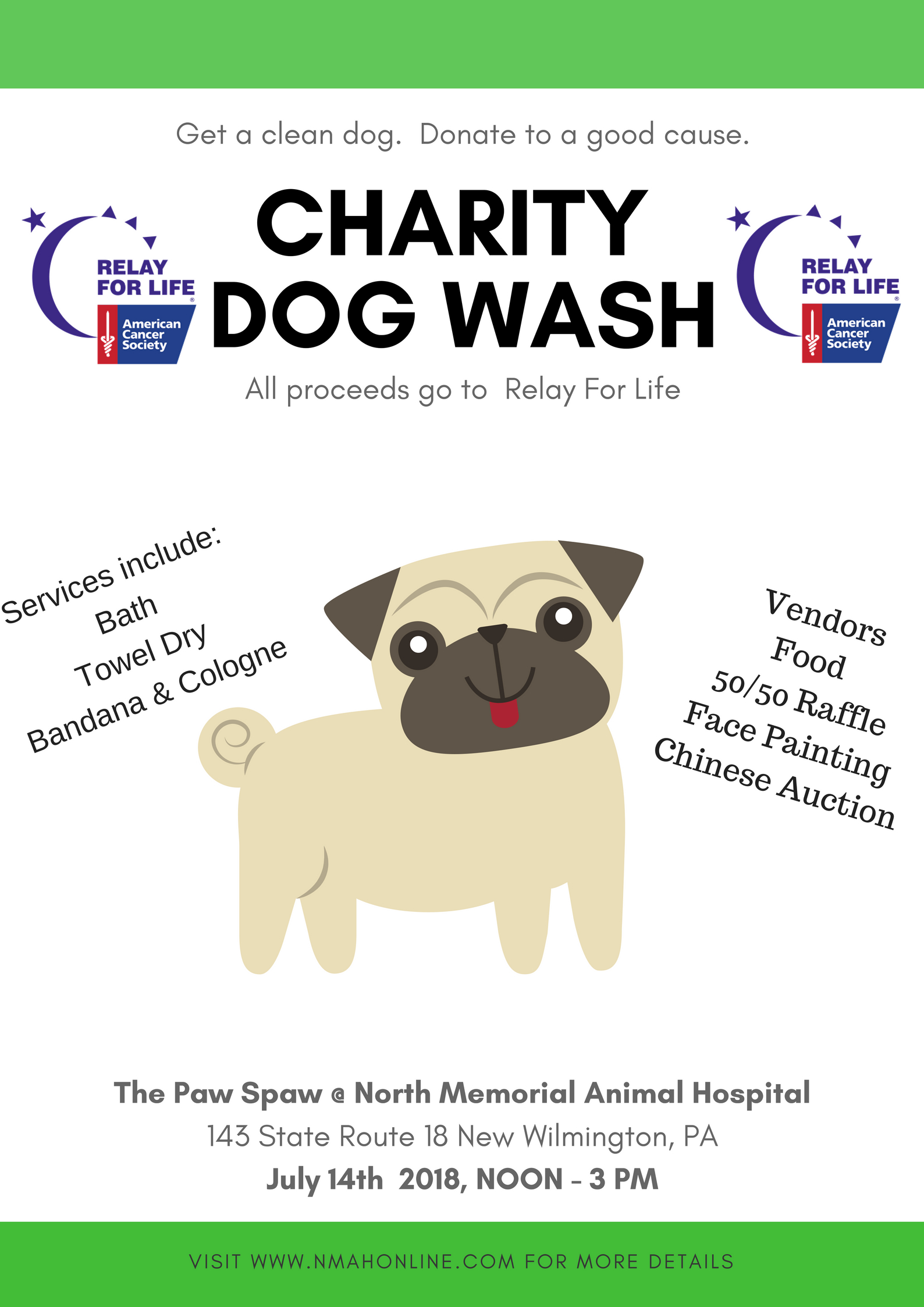 Charity Dog Wash @ North Memorial Animal Hospital | New Wilmington | Pennsylvania | United States