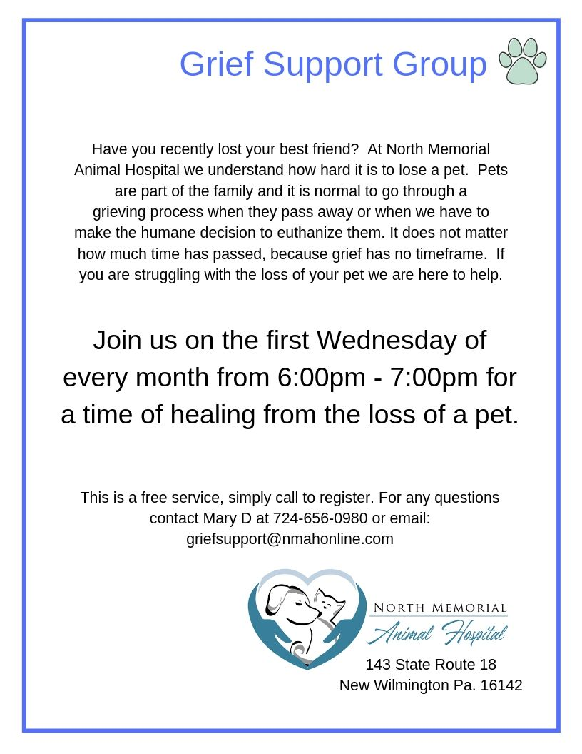 Pet Loss Support Group @ North Memorial Animal Hospital